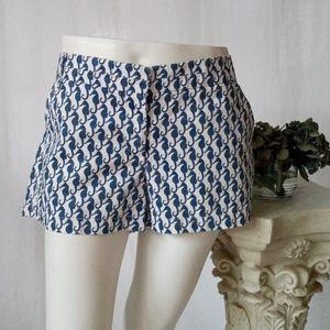 J. Crew seahorse print chino shorts size 10